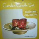 Red & Gold Risen Christmas Votive /Tea LIght Candle Garden Set New with candles
