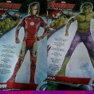 Marvel Avengers Iron Man or THE HULK  AGE OF ULTRON  New  med 8-10  2/4 toddler