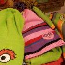 Sesame Street Abby Cadabby/GROUCH POMPOM /FLEECE SKULL CAPS Coppertone Headwear