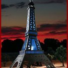 22 IN NEW SOLAR LIGHTED EIFFEL TOWER & BEAUTIFUL Add a touch of French elegance
