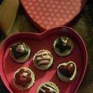HEART LOVE SHAPE TEA LIGHTS PETI4 CAKE SHAPE CANDLES  SET 6 PIECE MUST C 2 CUTE