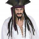 NEW DREADED Pirate Jack Sparrow  Men Hat with Dread locks BOX61