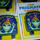 Candle Cake Topper Aliens Kids Birthday NEW PRISMATIC CANDLE