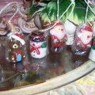 3pcs Christmas santa/snowman/teddy bear Candles Christmas Decoration cake topper