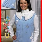 winter vest LETIT SNOW LET IT SNOW  BUT KEEP WARM NEW  XLARGE WOMANS & MED LEFT