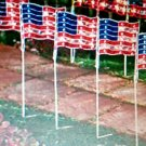 USA  flag lights  Set of 4 super bright LED light-up flags NEW