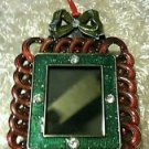 Digital photo album Christmas L C D metal frame gift with bow NIB