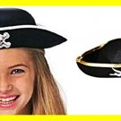 Kids Permafelt Pirate Hat Childs sz may fit some adults buccaneer hat new