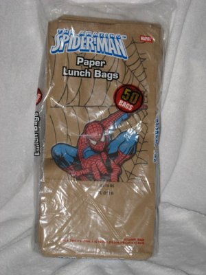 Marvel Spiderman Spider Man Lunch Party Paper Bags x 2 Packs