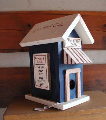 Blue Bird Cafe Birdhouse