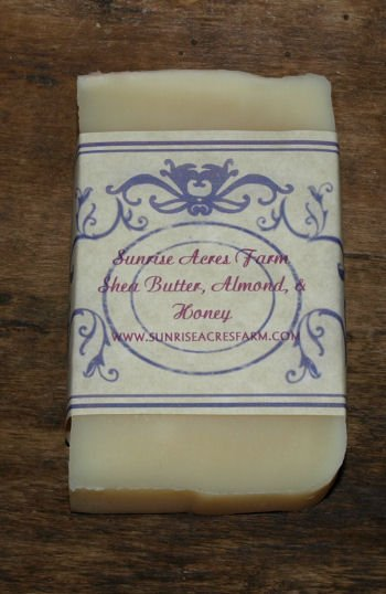 Handmade Soap - Shea Butter, Almond, & Honey Bar
