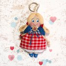 Handmade keychain doll. Miniature doll. Accessories for bag. Pendant doll for girl.