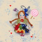 Handmadecrafted small bunny. Keychain rag doll. Accessories for bag. Pendant doll.