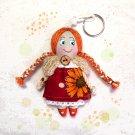 Handmade doll keychain. Keychain rag doll. Doll accessory. Gifts for girls