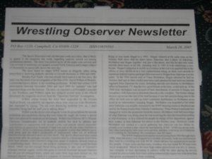 Wrestling Observer 1/15/07 WWE TNA UFC ROH K1 show Ring of Honor