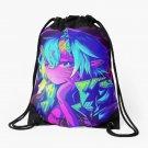 Aesthetic Cute Anime Cyberpunk Neon Girl Waifu Drawstring Bag