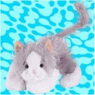 Webkinz Gray and White Cat-Retired