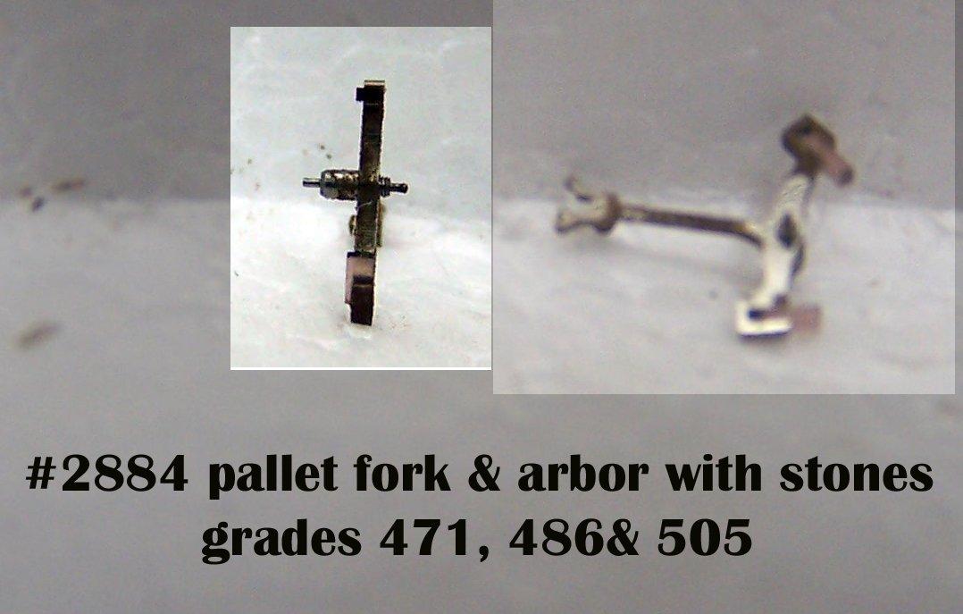 #2884 pallet fork ,arbor & stones for grades 471,505,486