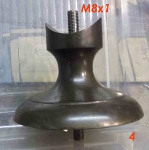 Watchmakers / Jewelers Lathe Pedestal Stand / Mount / Leg