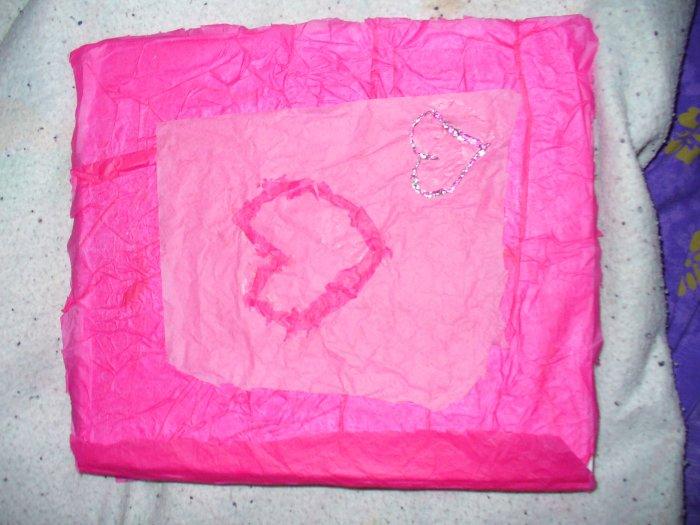 Hand Decorated Original Pink Binder NEW FREE SHIPPING