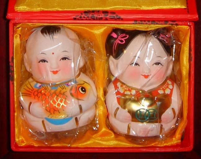 Chinese Clay figurine - unique valentine gift