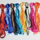 50 colors natural mulberry silk embroidery floss threads for hand embroidery DIY craft