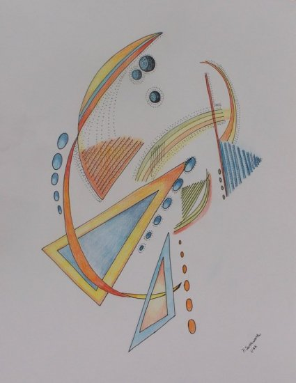 Abstract Pen and Colored Pencil