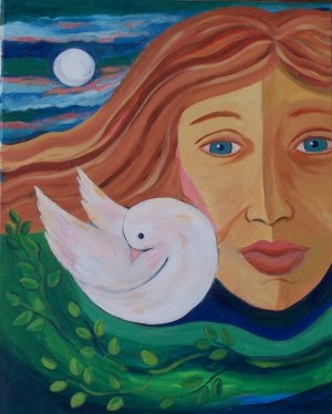 Girl with Dove