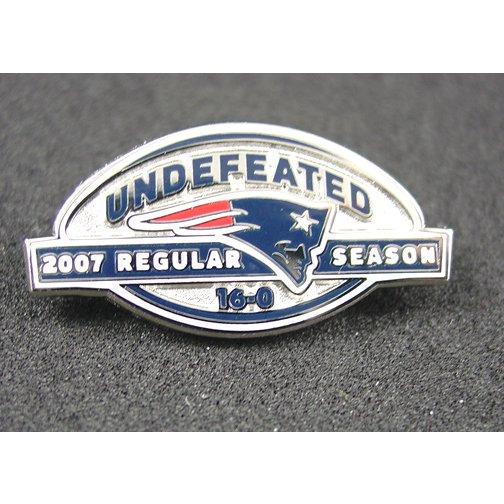 NE Patriots Undefeated 2007 Regular Season 16-0 Pin