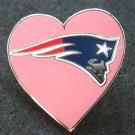 Patriots Heart Logo Silvertone & Enamel Pin