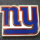 NY Giants Goldtone and Enamel Traditional Logo Pin