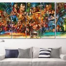 Movie Canvas Wall Art Framed / Movie Collage Poster Prints / Classic Movie Decor 5 Panel