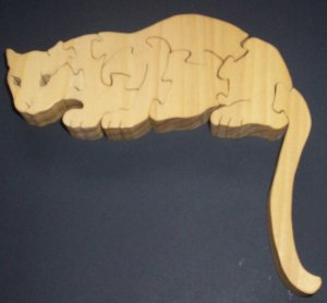Wood Cougar Puzzle