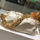 Luxury Bag BV White The Chain Pouch Leather Shoulder Bag