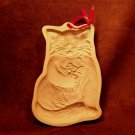 Vintage 1983 Cat With Flowers Brown Bag Cookie Mold