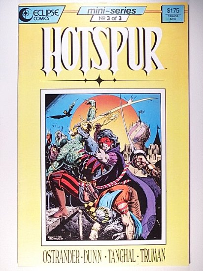 Hotspur 3  That's Entertainment Eclipse Comics September 1987