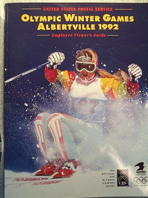 Albertville Winter Olympic Games guide - United States Postal Service 1992 - Collectible