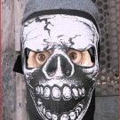 FULL FACE BIKER SKULL MASK ~ Neoprene ~by SICK BOY MOTORCYCLES /CHOPPER