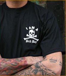 "Sick Boy Motorcycles ""I am a SickBoy"" Men�s Short Sleeve Biker T Shirt L"