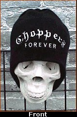 """SickBoy Motorcycles ~ """"Choppers Forever"""" 120 MPH Knit Cap!!"""