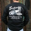 "SickBoy Motorcycles ~ Men's T Long Sleeve Biker Tee Shirt ""SICKIES GARAGE"" L"