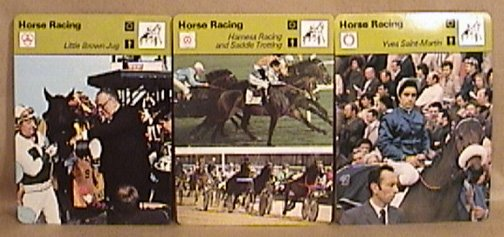 18 SPORTSCASTER CARDS HORSE RACING & HORSE JUMPING 1977