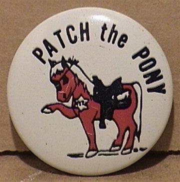 PATCH THE PONY PIN 1964 CHILD SAFETY PROGRAM