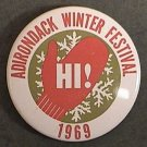 ADIRONDACK WINTER FESTIVAL PIN 1969 RARE ORIGINAL NEW YORK