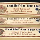 4 USFL CHICAGO BLITZ 1984 SCHEDULE PUTTIN ON THE BLITZ BUMPER STICKERS UNUSED