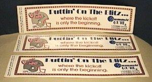 4 USFL CHICAGO BLITZ 1984 SCHEDULE PUTTIN ON THE BLITZ BUMPER STICKERS UNUSED