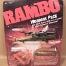 COLECO RAMBO ACTION FIGURE TOKEROV M16 CROSSBOW WEAPONS PACK 1985 NEW MIP SEALED