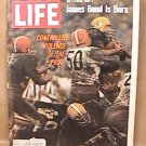 LIFE MAGAZINE GREEN BAY PACKERS CLEVELAND BROWNS FOOTBALL OCT 14 1968 EX NICE