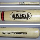 MINI BASEBALL BAT MANSFIELD UNIVERSITY KR 3 MINIATURE SOUVENIR 1990s WOOD 18""