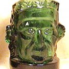 GEORGE WASHINGTON PRESIDENT GLASS CUP PAPER CLIP WEIGHT GREEN COLOR 1960s